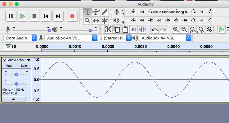 sine wave in audacity