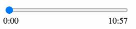 input range slider for html audio