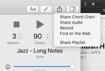 screen shot of save iRealPro audio